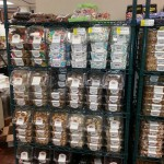rack of deli containers