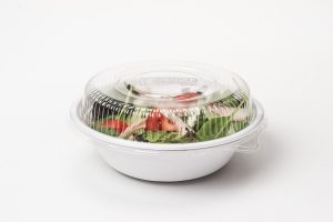 Compostable 36 oz bowl and lid