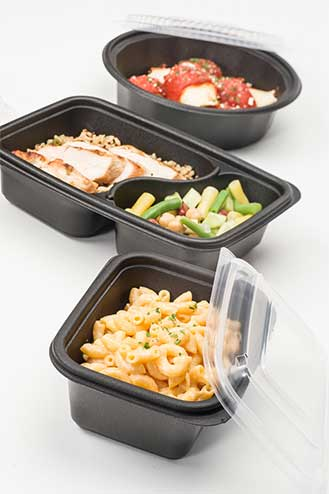microwave safe containers - black