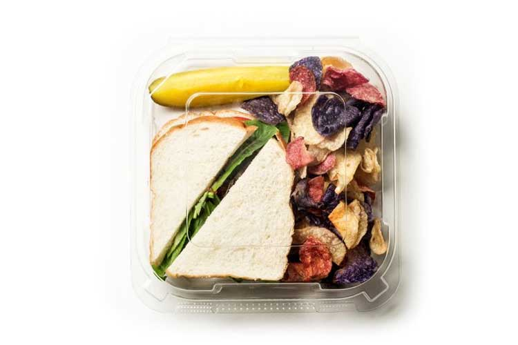 clear sandwich container