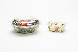 pair of APET food containers