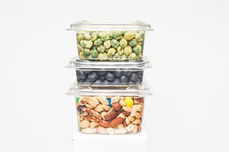 stacked snack containers