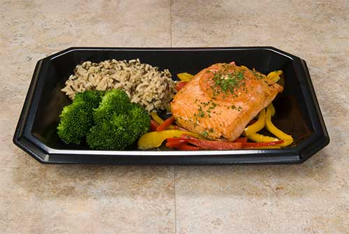 black food tray