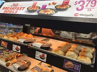 Weigels breakfast display
