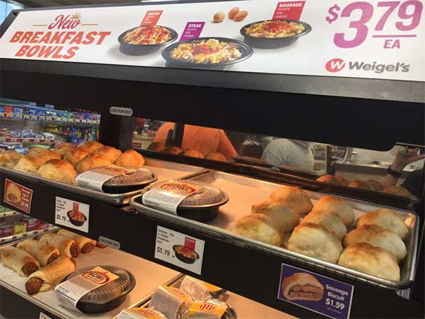 Weigel's breakfast display