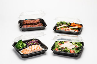 ProView hinged containers for food delivery