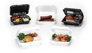 polystyrene hinged food containers