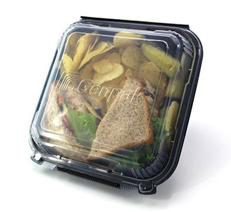 solution-based sandwich container