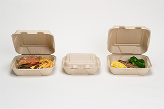 hinged food containers with design printing