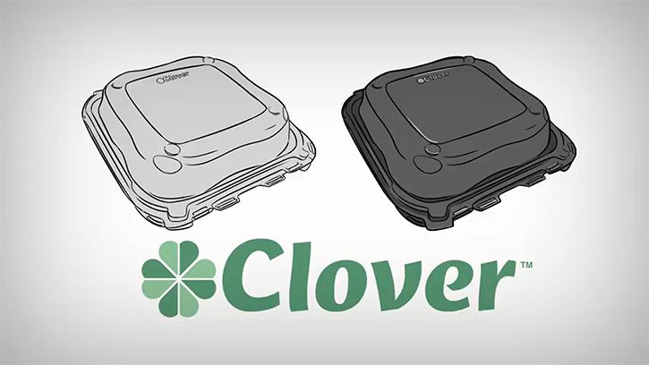 Clover containers - illustration
