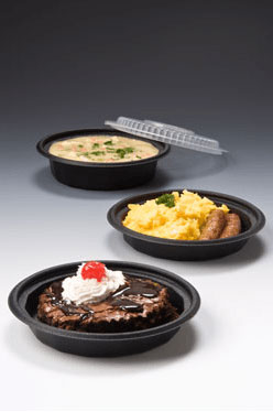 black to go containers with food