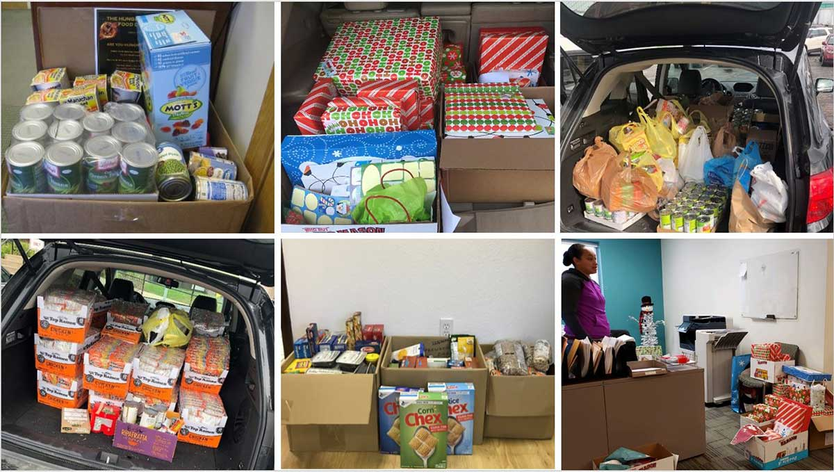 food bank donations collage