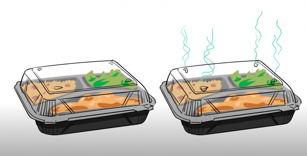 Vented vs nonvented takeout containers