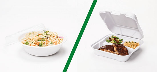 two piece vs hinged takeout containers