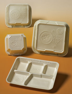 food containers made from recycled content