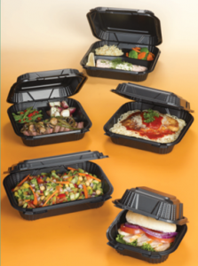 Harvest Pro black hinged containers