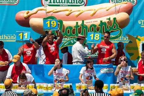 Cups used at Nathan's Hot Dog Eating Contest
